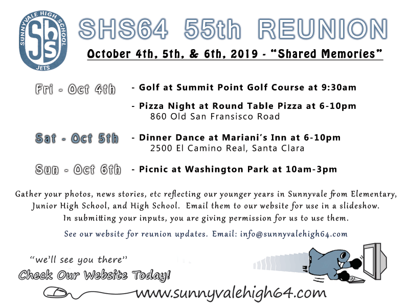 55th reunion postcard